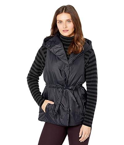 Eileen Fisher Petite Hooded Vest (Black) Women