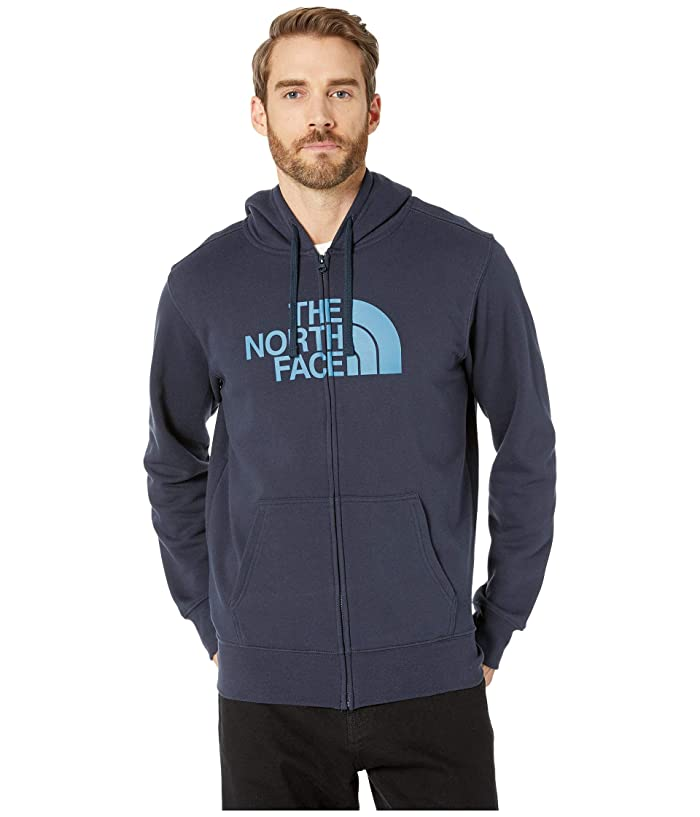 The North Face Half Dome Full Zip Hoodie (Urban Navy/Storm Blue) Men