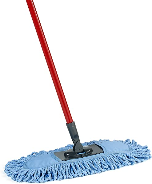 O Cedar Dual Action Microfiber Sweeper Dust Mop Red Blue
