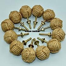 Jute touw deurknoppen Set van 12/trek- en duwgreep knoppen voor kasten, kasten en kasten/nautische hardware decor