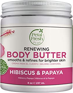 Petal Fresh Pure Renewing Hibiscus & Papaya Body Butter, Organic Coconut Oil, Argan Oil, Shea Butter, Skin Softening, For ...