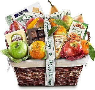 Happy Holidays Deluxe Fruit Basket