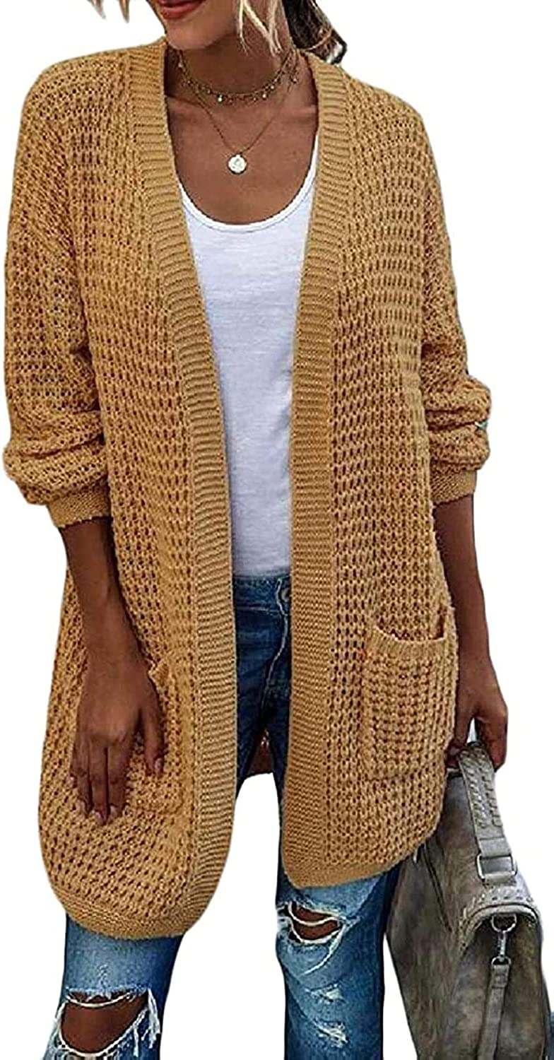 Women's Solid Relaxed Fit Contrast Open-Front Selling Cardigan price