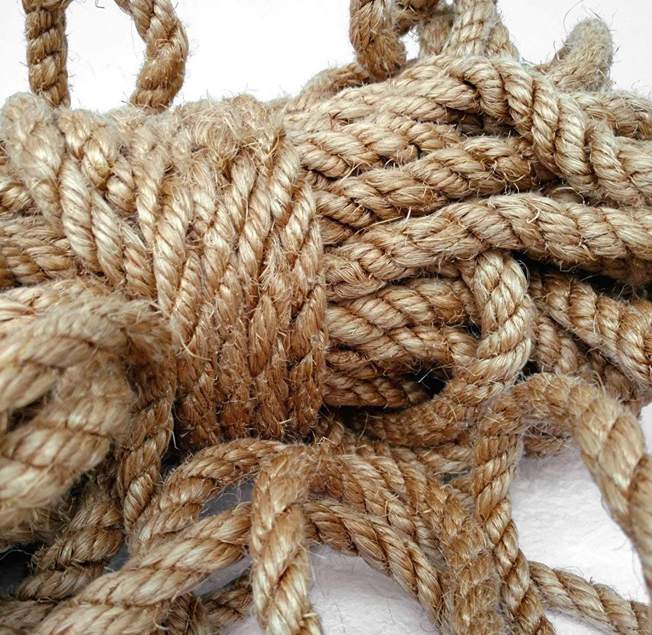 Light Brown Sisal Rope, Dyed Camel Color: 1/4