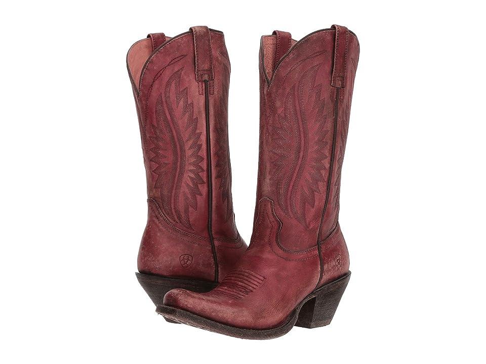 Ariat Circuit Salem (Naturally Distressed Pink) Cowboy Boots