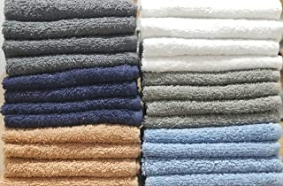 """BEST TOWEL 24-Pack Washcloths - Extra-Absorbent - 100% Cotton - 12"""" x 12"""" (Multi, 24 Pack Washcloth 12x12)"""