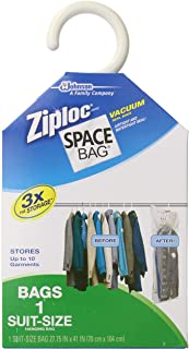 Space Bag #WBR-5700 Vacuum Seal Clear Hanging Storage Bag