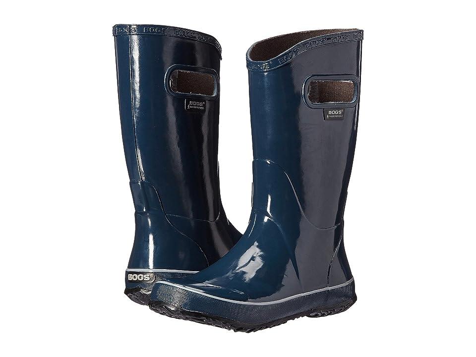 Bogs Kids Rain Boot Solid (Toddler/Little Kid/Big Kid) (Navy) Boys Shoes