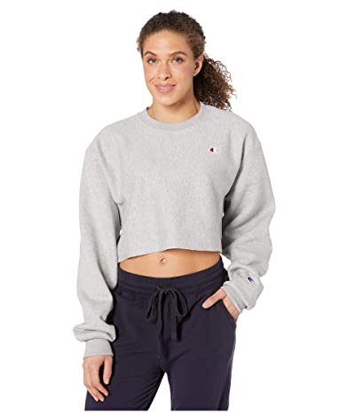 Champion LIFE Reverse Weave(r) Cropped Cut Off Crew (Oxford Gray) Women