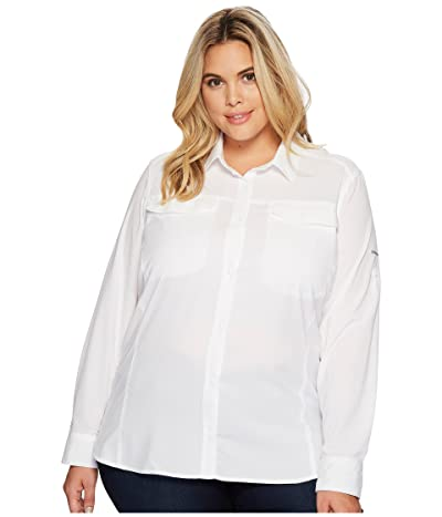Columbia Plus Size Silver Ridge Lite Long Sleeve Shirt (White) Women