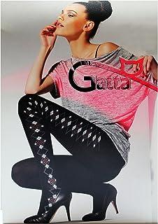 Gatta Carena 07M - schöne Baumwollstrumpfhose mit Muster - warm & chic