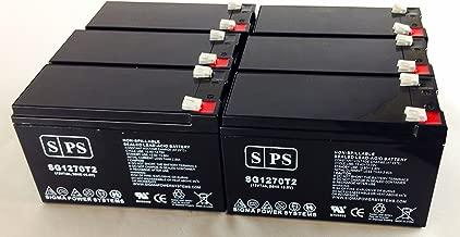 12V 7Ah (from SPS) Liebert UPStation GXT UPS Replacement Battery (6 Pack)