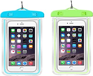 Clear Universal Waterproof/snowproof Luminous Glow cell Phone Case for iPhone7/7plus/6s/6/6s plus, Samsung Galaxy s8/s7/ S...