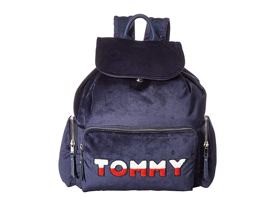 Tommy Hilfiger Nylon Flap Backpack (Tommy Navy) Backpack Bags