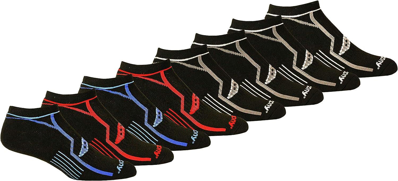 Saucony mens 8 Pairs Performance Comfort Fit Heel Tab Athletic Socks