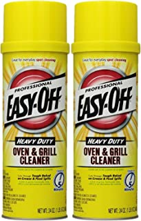 Easy Off Professional Oven & Grill Cleaner Aerosol, 24 oz, Pack of 2