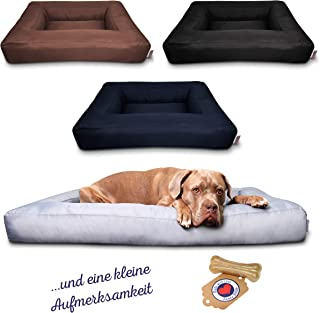 Tante Hilde Hundebett Düne Waschbar Robust Größenauswahl Top Qualität Hundekorb Hundekissen für kleine, mittlere und große Hunde!