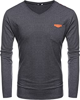 COOFANDY Men's Long Sleeve Henley Shirts Plain Raglan Cotton Casual Basic T Shirt
