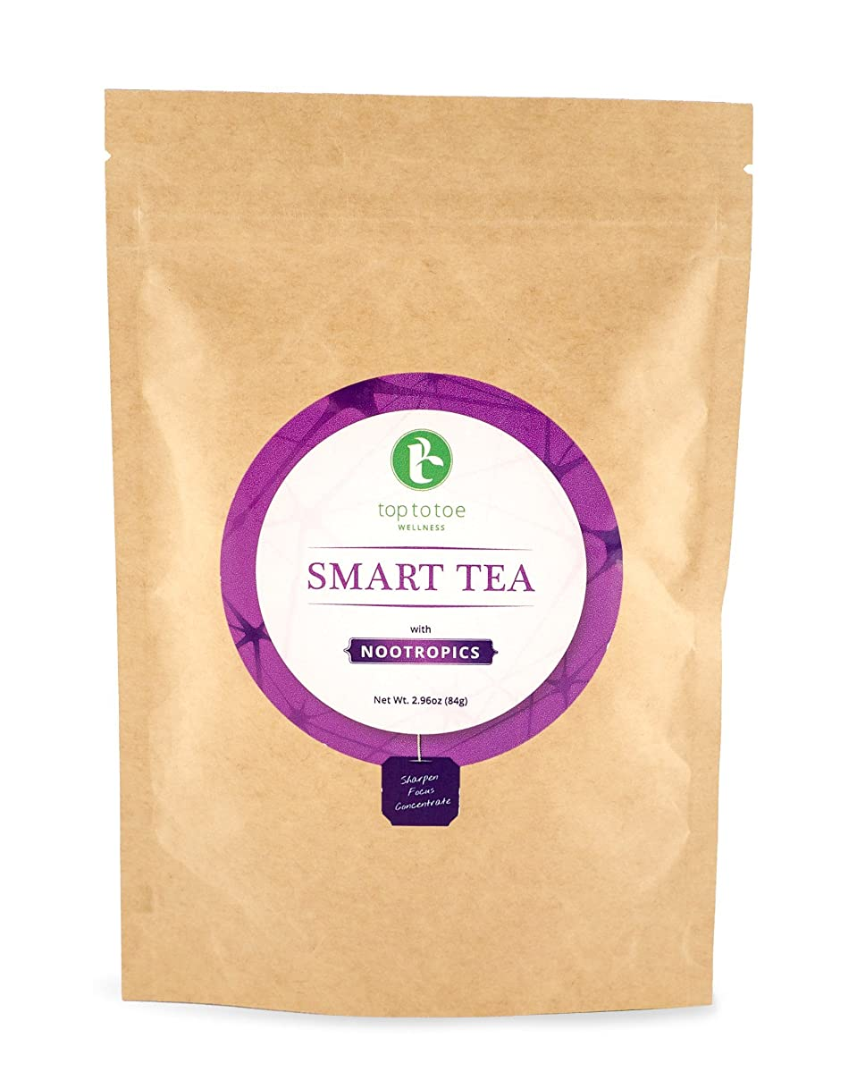 Pace Brands - Smart Tea for Mental Focus | Best 100% Natural & Organic Brain Boosting Tea | Help Enhance Memory and Concentration | With Yerba Mate, Sencha and Gingko | Loose Leaf 84 grams