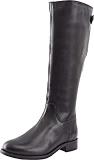 Allonsi Amata Women's Genuine Leather Classic Knee High Riding Boots, Knee High Boots with Low-Heel, TPR Sole and Zip Closure