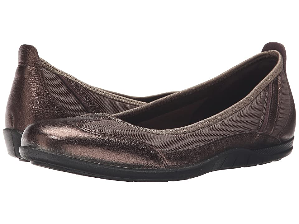 ECCO Bluma Summer Ballerina (Licorice Metallic/Tarmac) Women