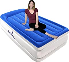 EnerPlex Built-in Pillow Top Luxury Twin Air Mattress with Built-in Pump Airbed Twin Size Raised Double High Elevated Blow Up Mattress Inflatable Bed Twin for Home Camping Travel, 2-Year Warranty