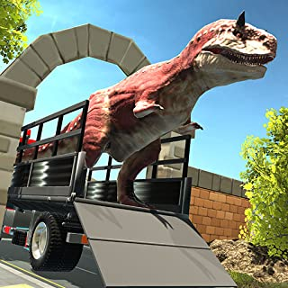 Wild Dino Kingdom Zoo Transport Truck Simulator : Angry T-REX Transporter Trailer Truck Tycoon Deluxe 3D