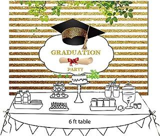 FiVan Congrats Graduationshintergrund für Abschlussball, Party, Fotohintergrund mit Congrats Grad und Abschlusskappe