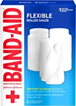 Band Aid Brand First Aid Flexible Rolled Gauze Wound Care Dressing, 4 in x 2.1 yd, 5 ct