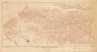 Map - Topographic And Economic Map Of The Fairbanks District, 1913 NOAA Topographic Map - Alaska (AK) - Vintage Wall Art - 24in x 13in