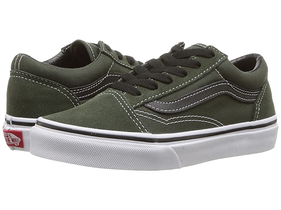 Vans Kids Old Skool (Little Kid/Big Kid) (Duffel Bag/Black) Boys Shoes