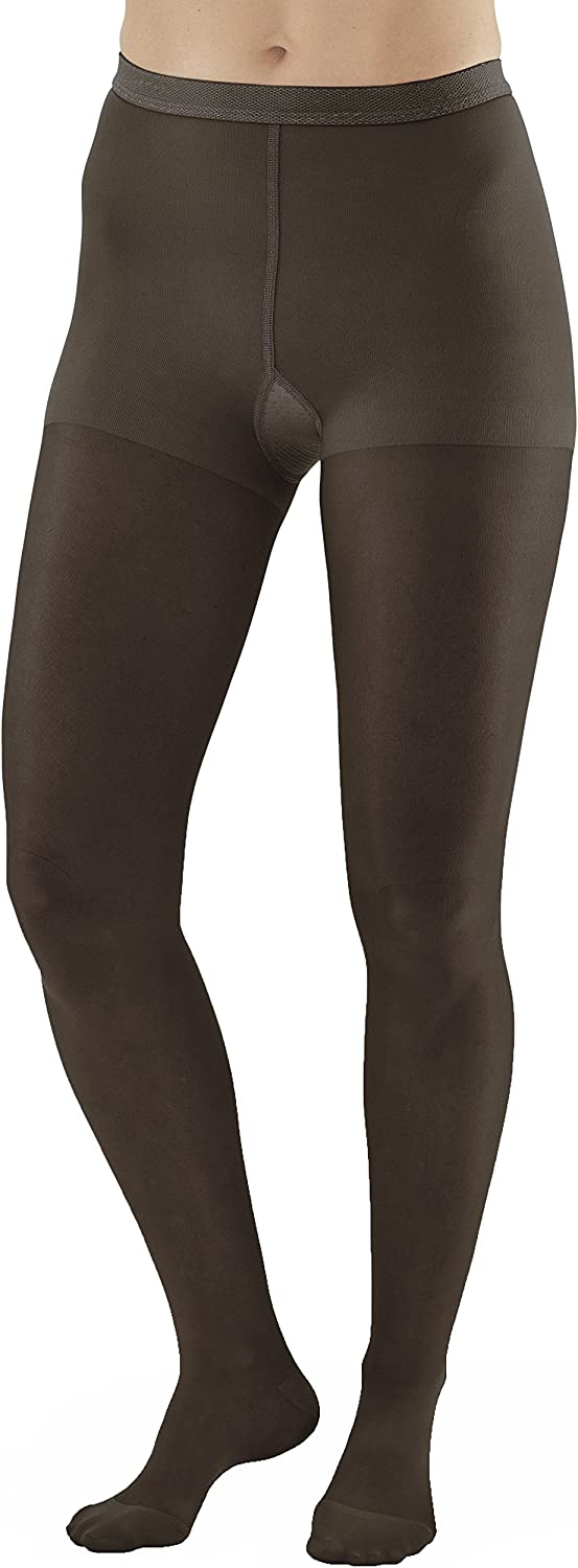 Ames Walker Women's AW Style 15 Sheer Support Closed Toe Compression Pantyhose 15 20 mmHg Black X Large 15 XL Black Nylon/Spandex
