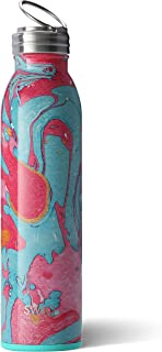 Swig Life Stainless Steel Signature 20oz Water Bottle with Screw-On Flip Ring Cap