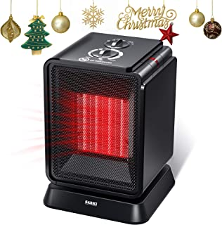 Personal Space Heater, 1500W Electric Ceramic Heater, Portable Mini Heater with Adjustable Thermostat, Oscillation, Tip-Over Protection for Desk Floor Office Home Indoor Use (1500W Mini Heater)