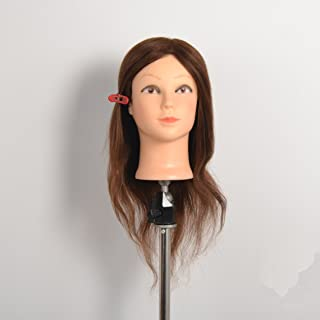 AU08 RJ157 Hairdressing 18 inches 100% Human Hair Training Mannequin Head