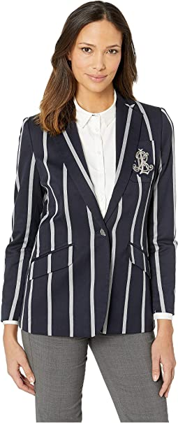 Cricket-Stripe Crest Blazer