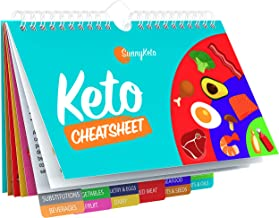 Keto Diet Cheat Sheet Quick Guide Fridge Magnet Reference Charts for Ketogenic Diet Foods - Including Meat & Nuts, Fruit &...