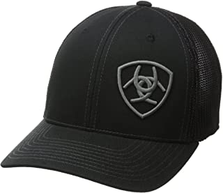 ARIAT Men's Solid Black Corner Logo