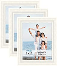 Icona Bay 8x10 (20 x 25 cm) Picture Frames (Alpine White, 3 Pack), French Country Style Picture Frame Set, Wall Mount or T...
