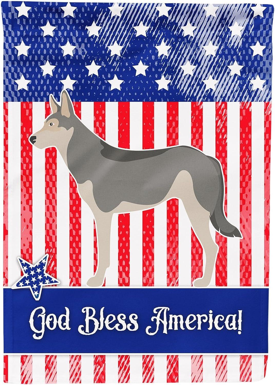 Caroline's Treasures BB8377CHF Saarloos Wolfdog American Canvas House Flag, Multicolor