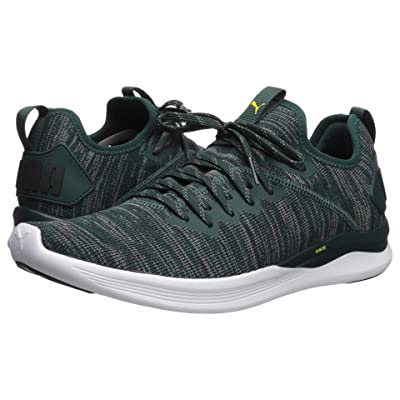 PUMA Ignite Flash evoKNIT (Ponderosa Pine/Puma Black/Blazing Yellow) Men