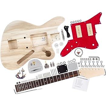 Rocktile 38312 - Kit de montaje para guitarra eléctrica estilo JAG ...