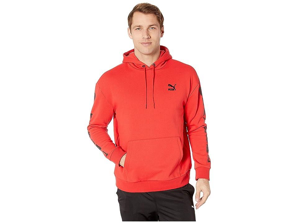 PUMA Sportstyle Hoodie (High Risk Red/Puma Black) Men