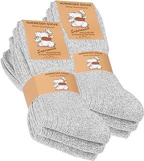 Vincent Creation, 6 pares de gruesa y cálida noruegos calcetines para hombre