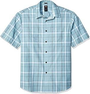 dickies Mens Yarn Dyed Plaid Short Sleeve Shirt Big-Tall Short Sleeve Button Down Shirt - Multi - 4X