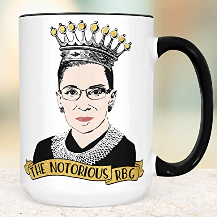The Notorious RBG Coffee Mug Microwave Dishwasher Safe Ceramic Ruth Bader Ginsburg Cup