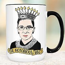 The Notorious RBG Coffee Mug Microwave Dishwasher Safe Ceramic Ruth Bader Ginsburg Cup