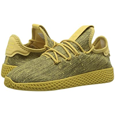 adidas Originals Kids PW Tennis HU C (Little Kid) (Pyrite/Chalk White) Kids Shoes