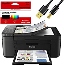 Canon Wireless Pixma TR4520 Inkjet All-in-one Printer with Scanner, Copier, Mobile Printing and Google Cloud + Bonus Set o...