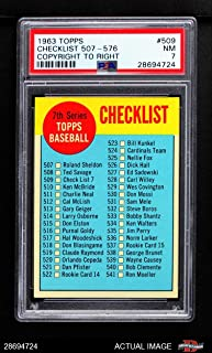 1963 topps baseball cards checklist